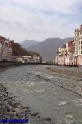 Река Мзымта на курорте Роза Хутор