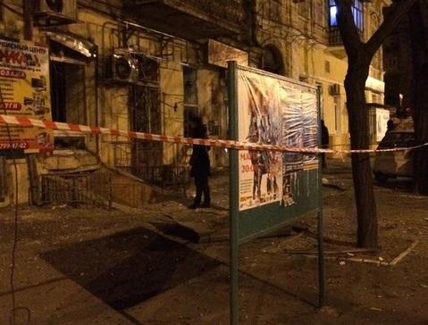 Взрыв офиса Правого Сектора в Одессе